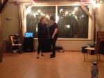 Sanne en Helma als Sandy en Danny (Grease)
